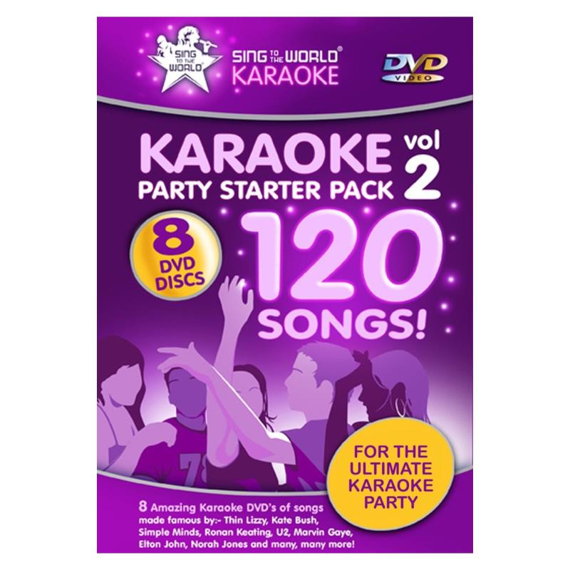 Karaoke Party Starter Pack Vol 2 DVD
